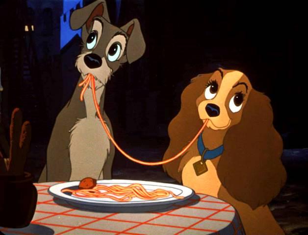 Lilli e il Vagabondo per suscitare un sorriso parlando di dieta casalinga per cani